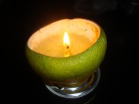 Lámpara ecológica de naranja