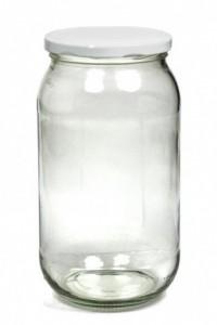 Frasco de vidrio con tapa