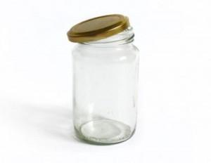 recipiente de vidrio con tapa