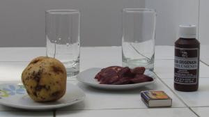 patata con hígado de pollo