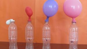 globos inflados con bicarbonato